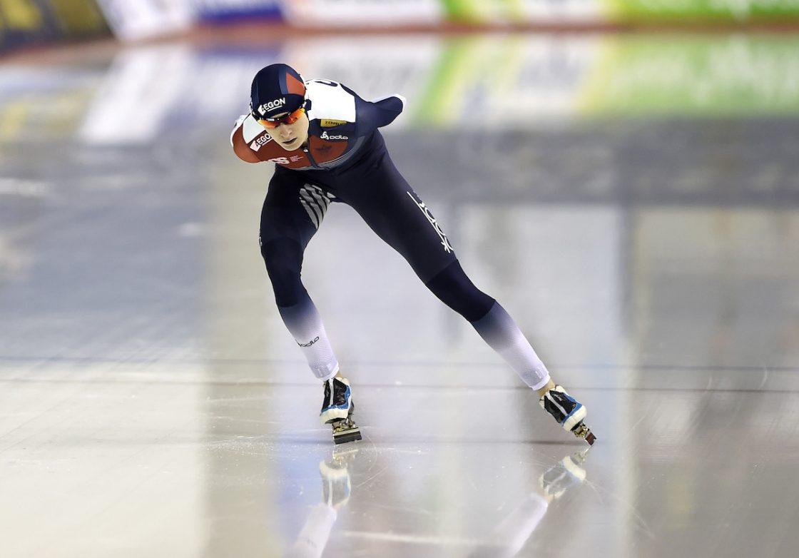 Martina Sablikova speedskating schaatsen Jessica Merkens sportjournalist foto Huub Snoep