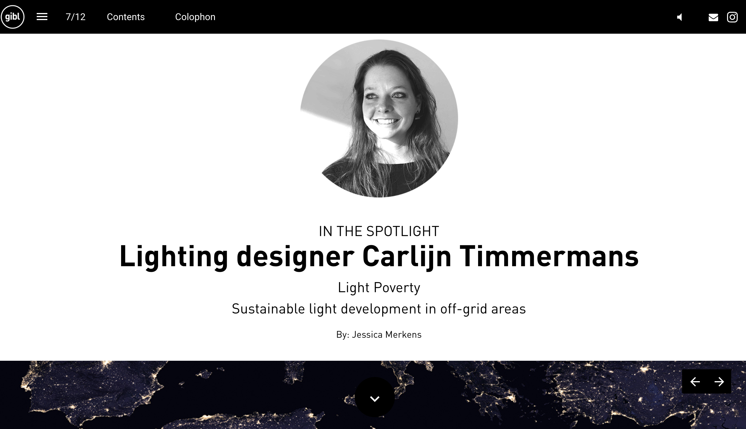 GIBL Get inspired by light magazine lighting designer Carlijn Timmermans sustainable light development by Jessica Merkens
