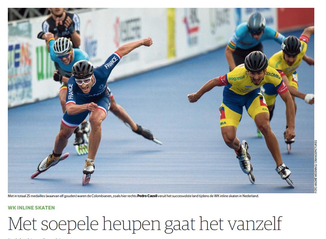 NRC 9 juli 2018 WK inline skaten colombia Jessica Merkens sportjournalist