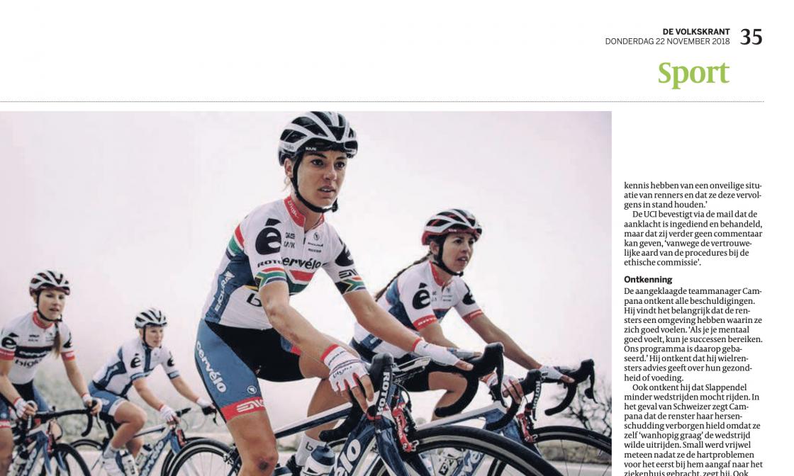 De Volkskrant Jessica Merkens machtsmisbruik vrouwenwielrennen