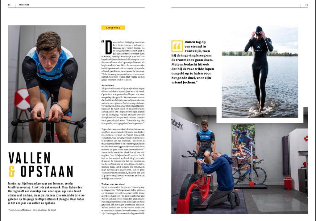 Transition Magazine Nederlandse Triathlon Bond Iron Man Ruben den Hartog Jessica Merkens sportjournalist