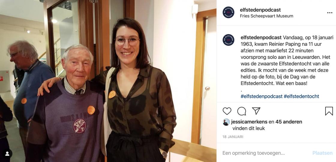 Elfsteden Podcast Instagram Jessica Merkens Reinier Paping Dag van de Elfstedentocht