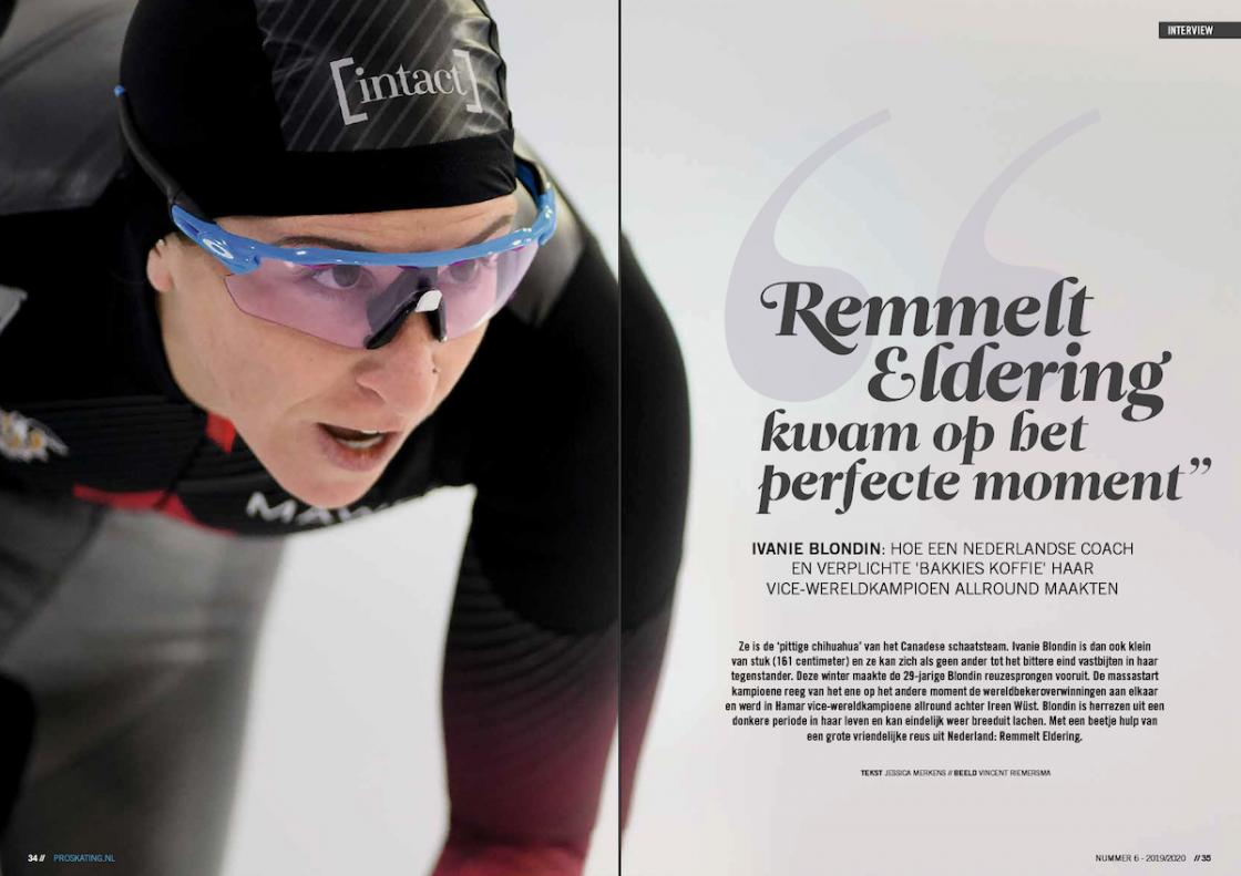 Proskating Ivanie Blondin Jessica Merkens schaatsen sportjournalist