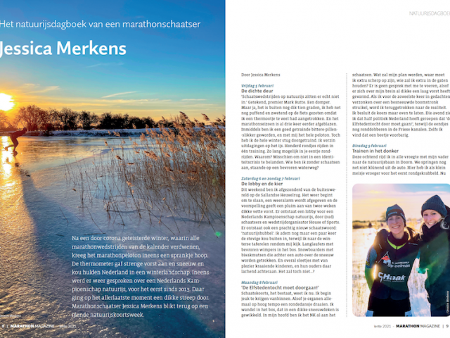 Alternatieve Elfstedentocht Weissensee Marathon Magazine Jessica Merkens marathonschaatser sportjournalist